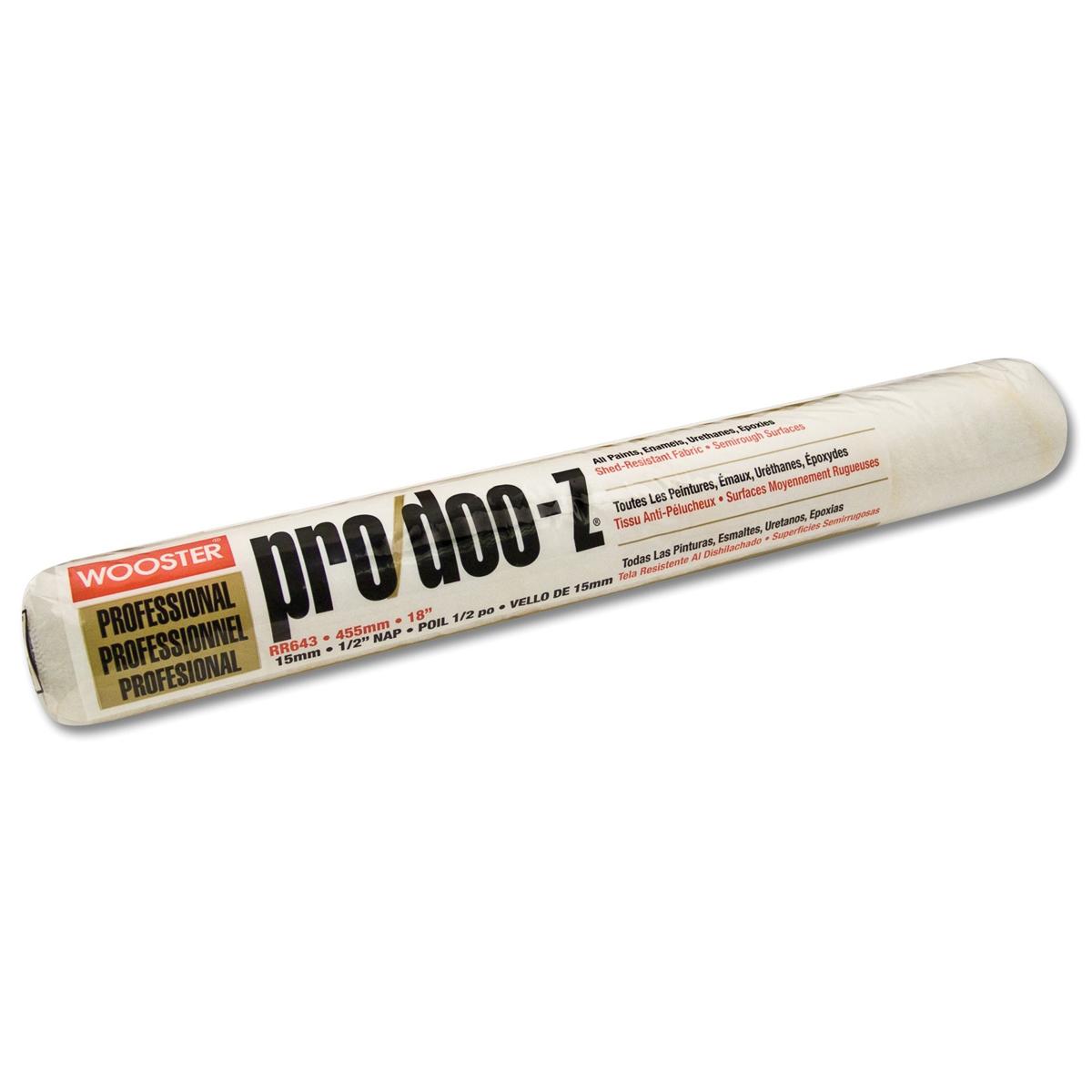 Pack of 6 Wooster Brush RR643-18 Pro//Doo-Z 1//2 Nap Roller Cover
